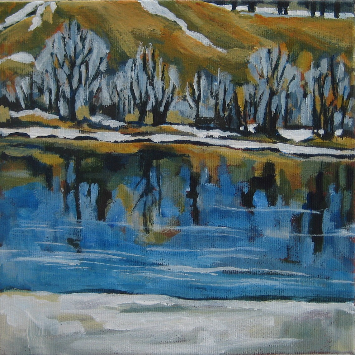 """Ice, Water, Snow, Frost"" original fine art by Nicki Ault"