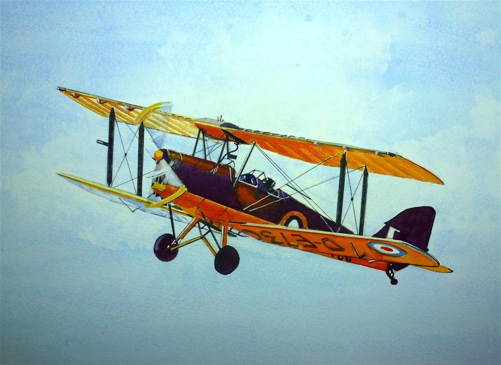 """Tiger Moth"" original fine art by John Monney"