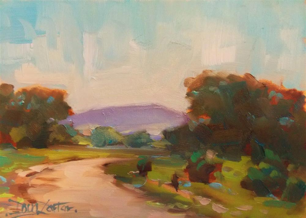 """HILL COUNTRY RD"" original fine art by Doug Carter"