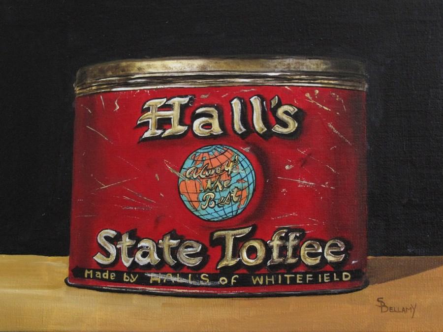 """Antique Toffee Tin"" original fine art by Sherry Bellamy"