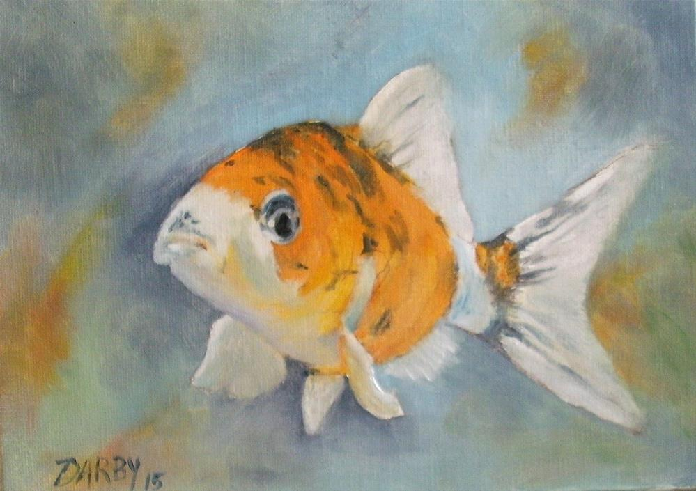 """Koi"" original fine art by Lynn Darby"