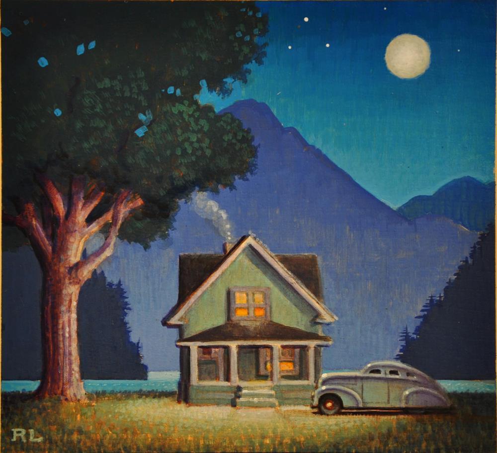 """Lake Cottage"" original fine art by Robert LaDuke"