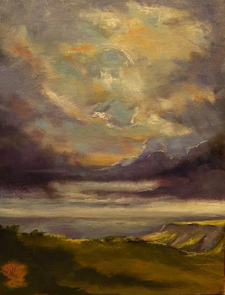 """""""Wishes from the Headland"""" original fine art by Aurelio Saiz"""
