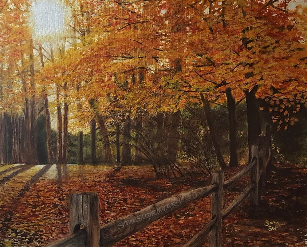 """""""Autumn Forest"""" original fine art by Sam Supkow"""