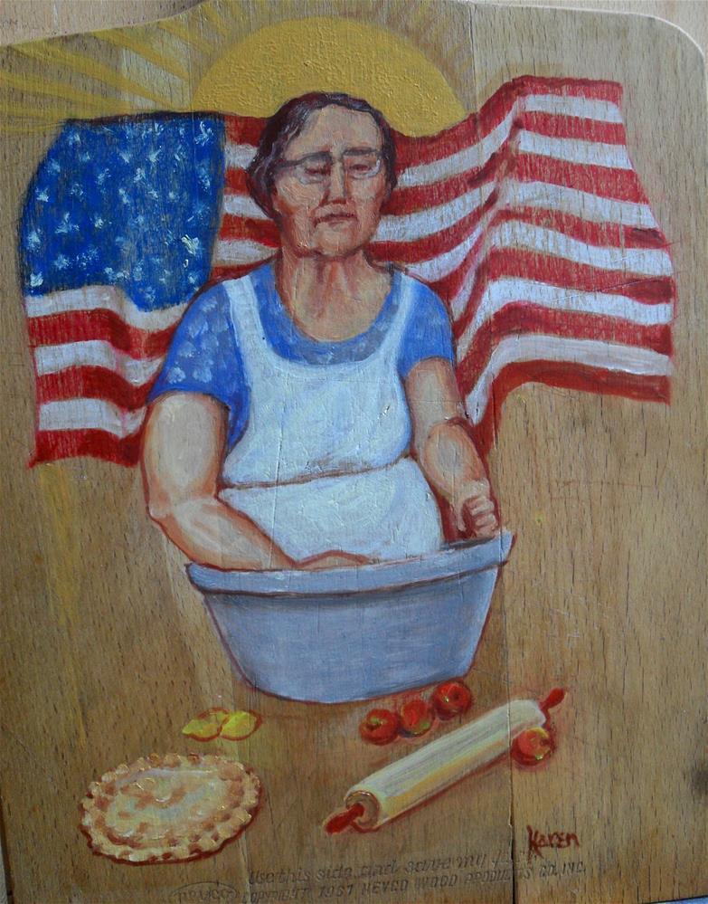 """Mom and Apple Pie"" original fine art by Karen Roncari"