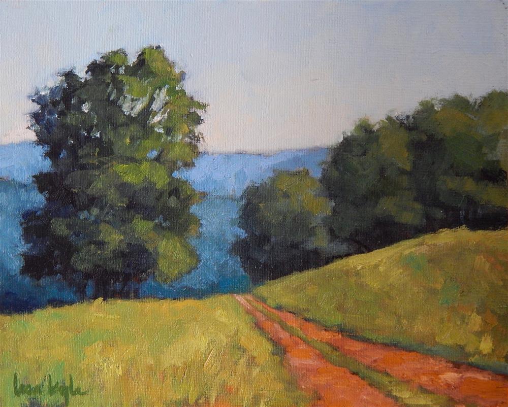"""Maryland Farm Road"" original fine art by Lisa Kyle"