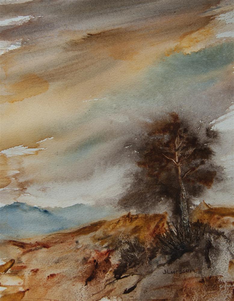 """""""Lone Pine"""" original fine art by Jean Lurssen"""