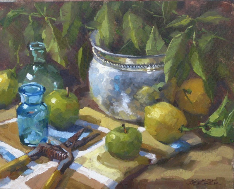 """Citrus Clippings"" original fine art by Karen Werner"