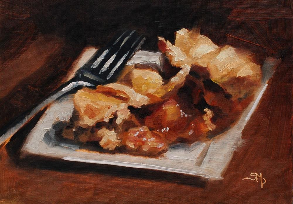 """No. 571 Ooey Gooey Apple Pie"" original fine art by Susan McManamen"