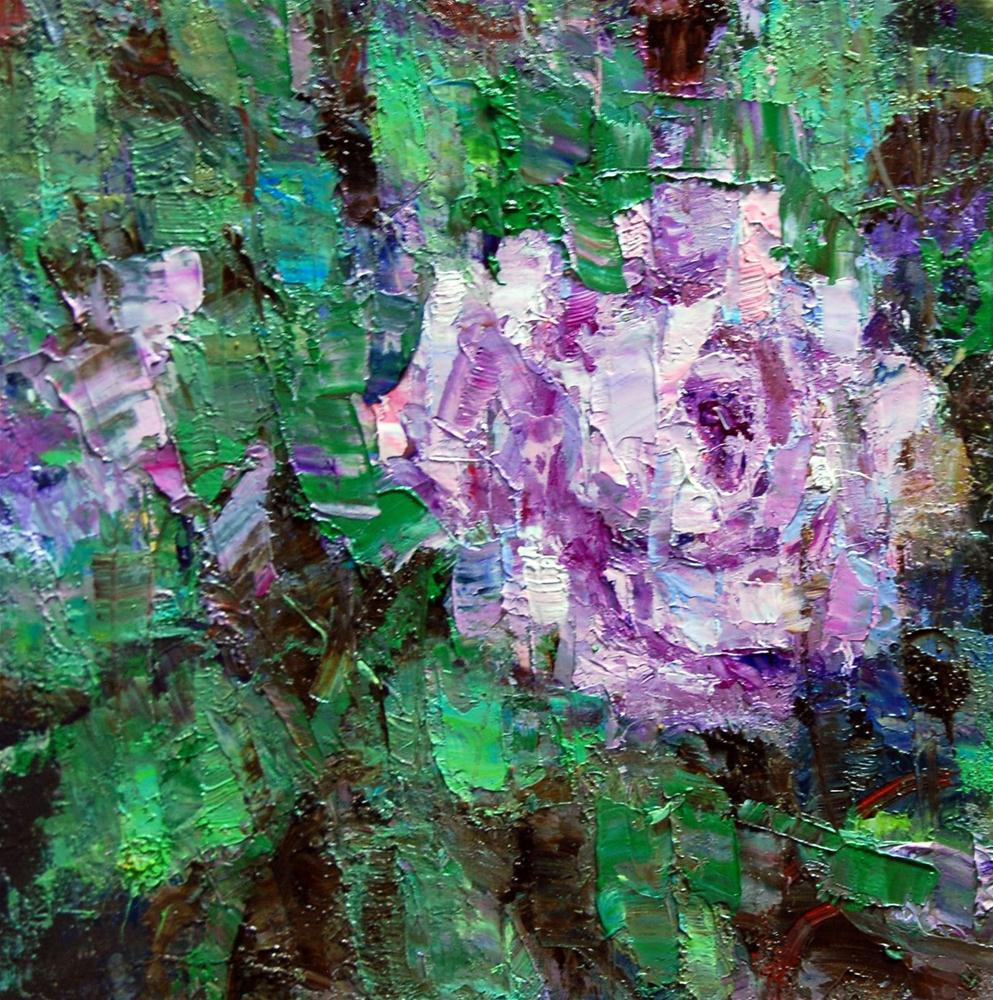 """""""Study of a Lavender Rose"""" original fine art by Julie Ford Oliver"""