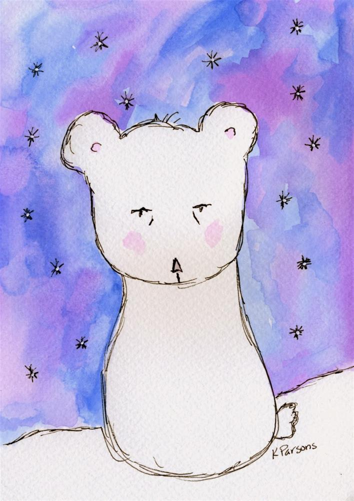 """Ready to Hibernate"" original fine art by Kali Parsons"