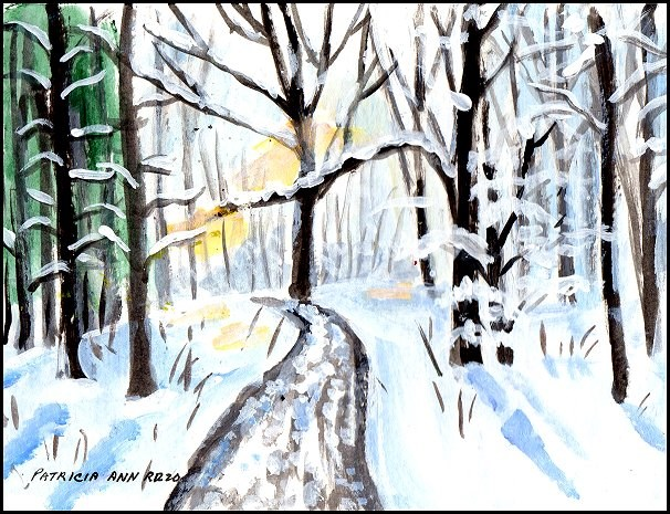 """Winter - Just Because"" original fine art by Patricia Ann Rizzo"