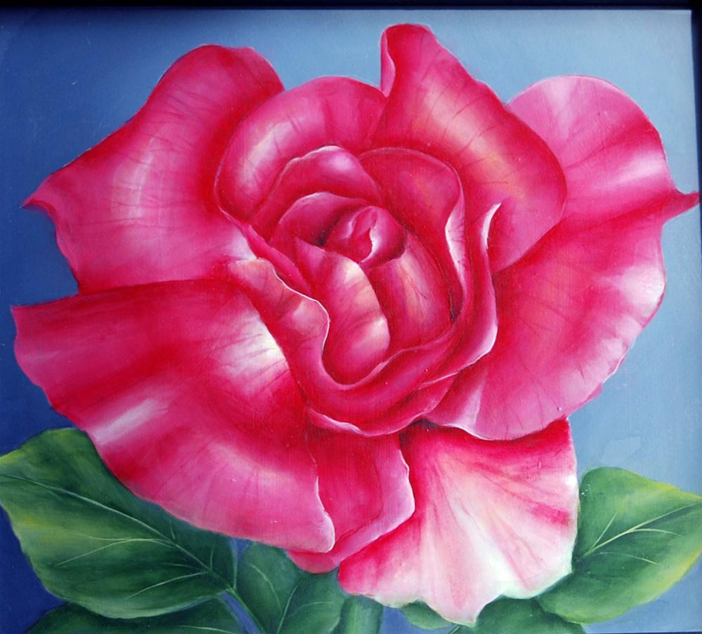 """A Rose"" original fine art by Maureen Baker"