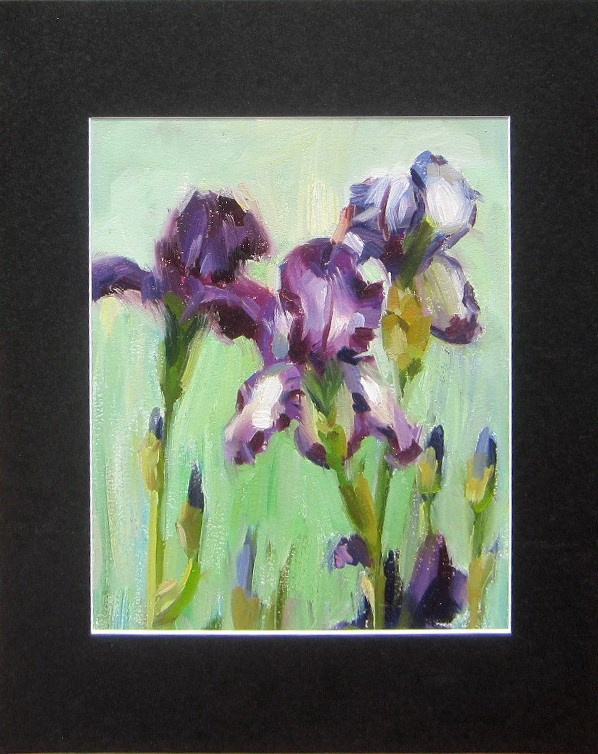 """Irises"" original fine art by Taisia Kuklina"