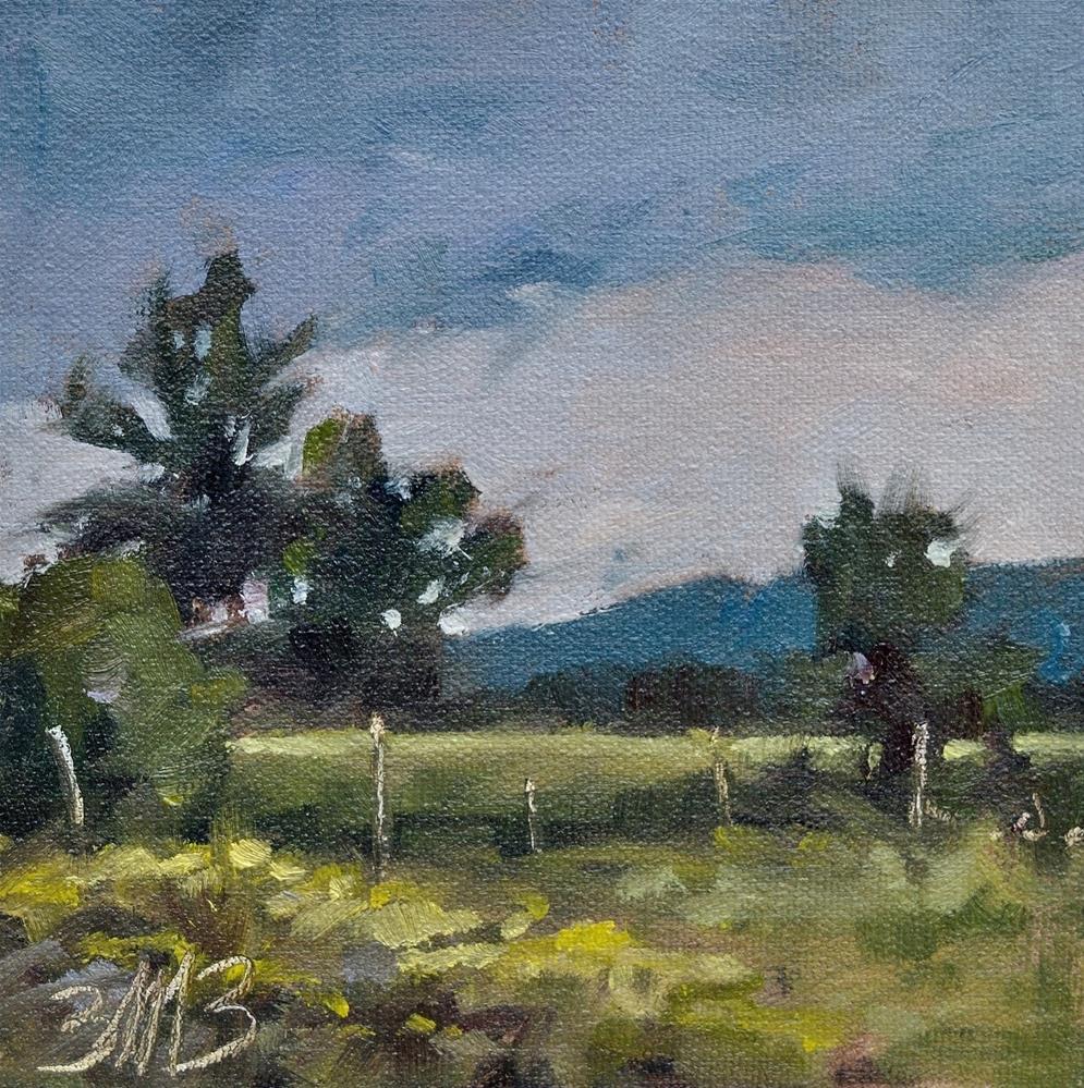 """Late Summer Fields"" original fine art by Brienne M Brown"
