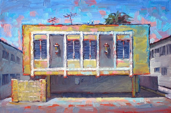 """The Yellow Box Apts"" original fine art by Raymond Logan"
