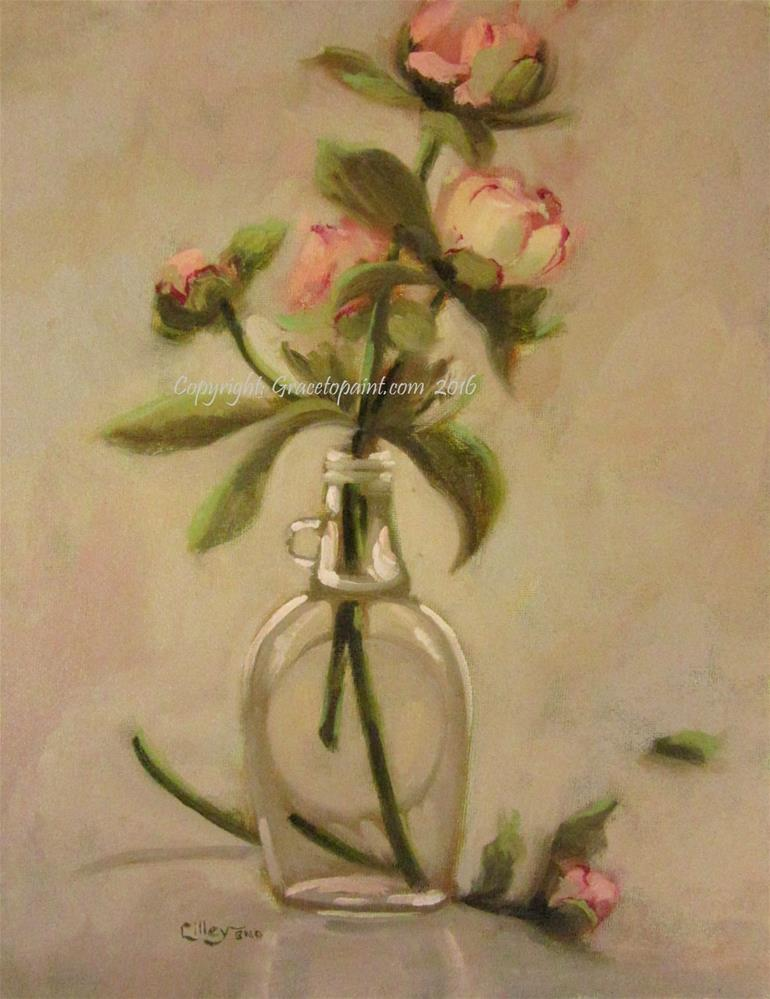 """Peony Clarity"" original fine art by Maresa Lilley"