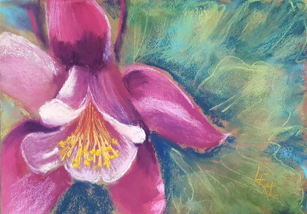 """Pink Columbine"" original fine art by Anna Lisa Leal"