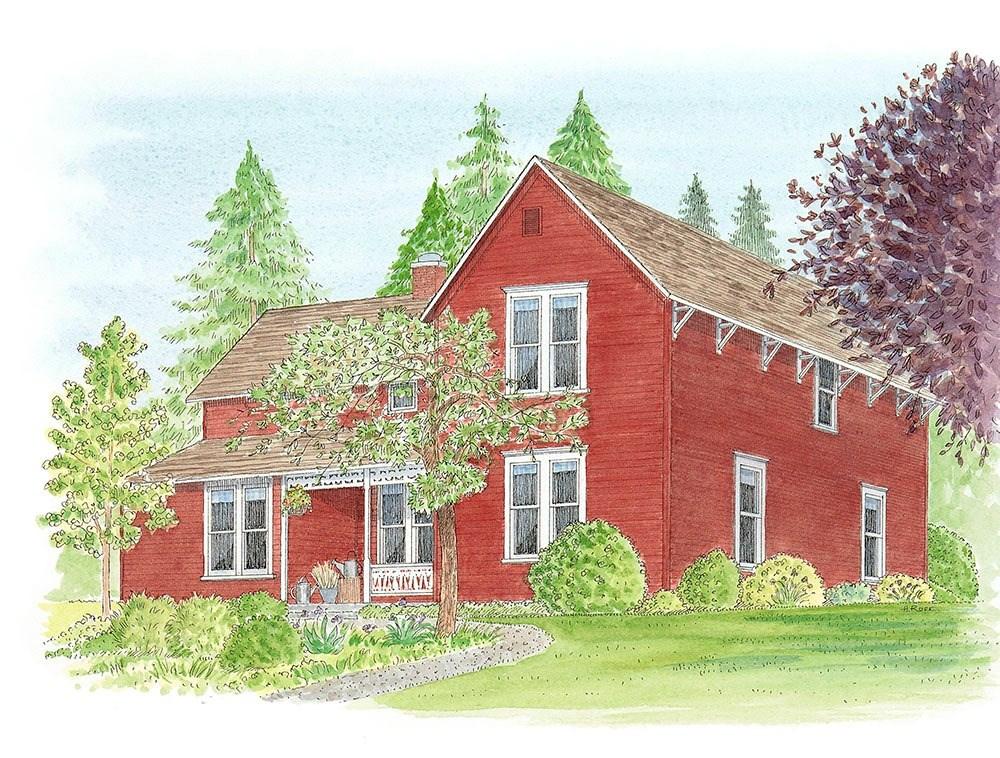 """Delphi House"" original fine art by Heidi Rose"