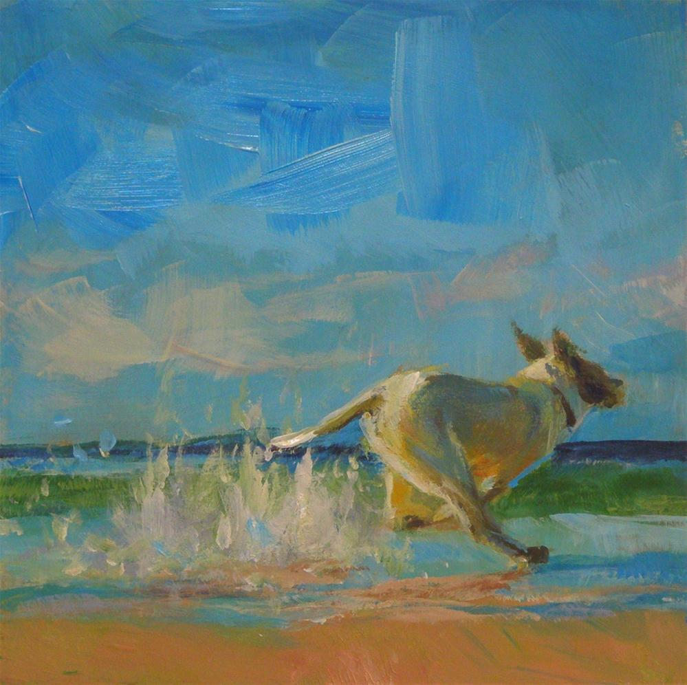 """LUCKY DOG"" original fine art by Brian Cameron"