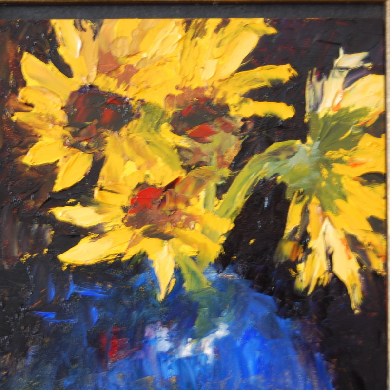 """Randy's flowers"" original fine art by Deborah Harold"