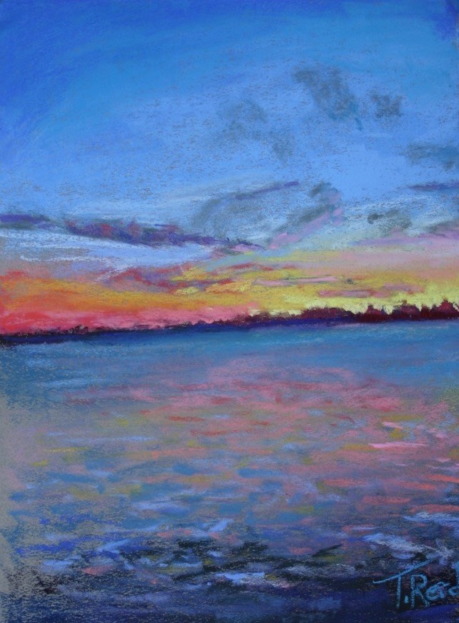 """Stan's Perdido Sunset"" original fine art by Toby Reid"