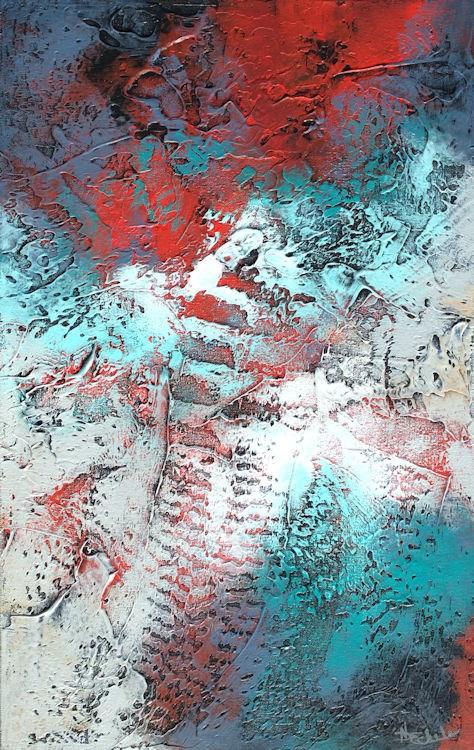 """""""Passion's Flow"""" original fine art by Nancy Eckels"""