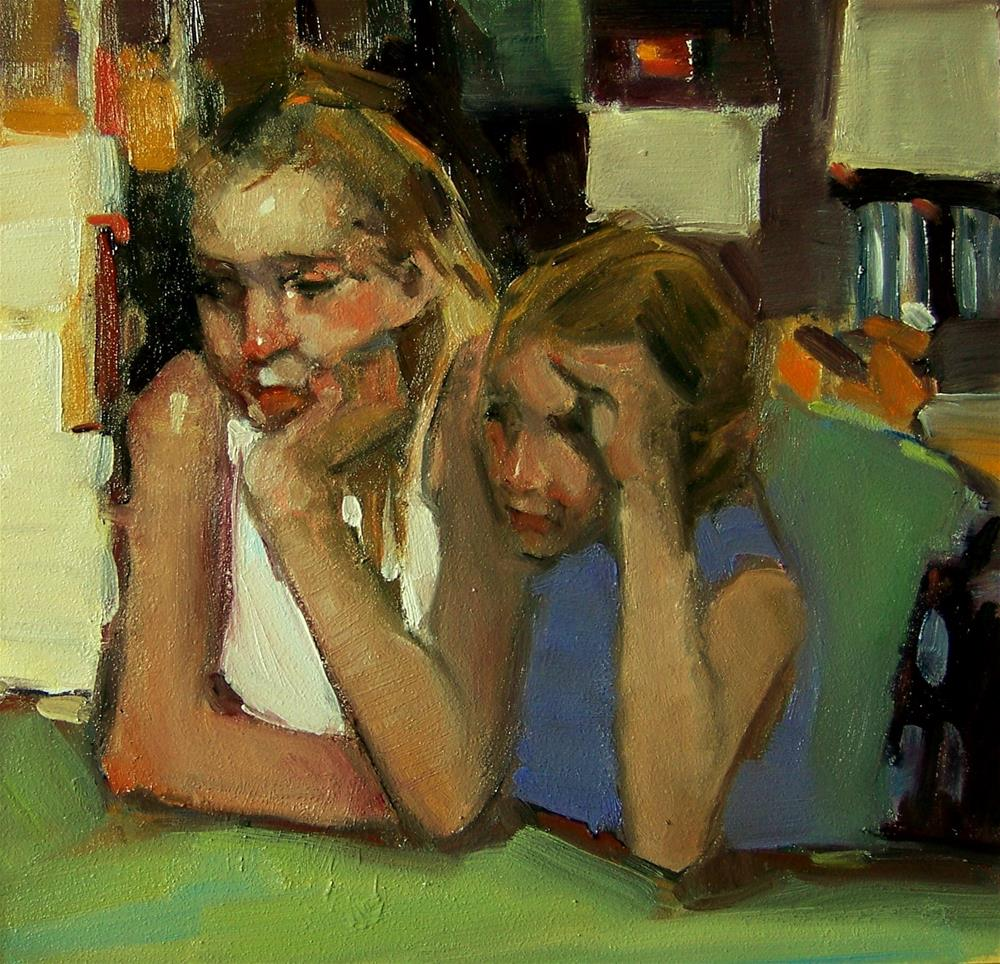 """Sisters"" original fine art by Kim Roberti"