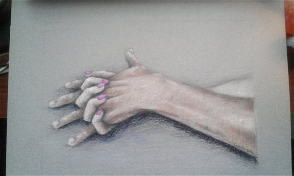 """Intimate Hand Holding"" original fine art by Camille Morgan"