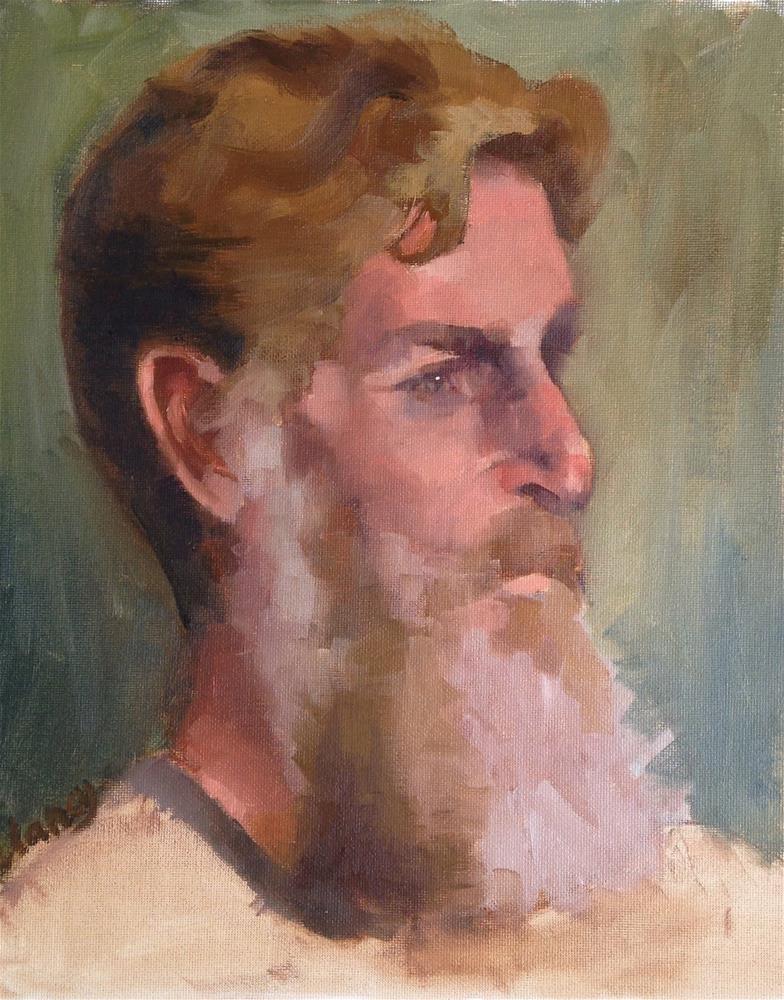 """""""Yoram"""" original fine art by Catherine Clancy"""