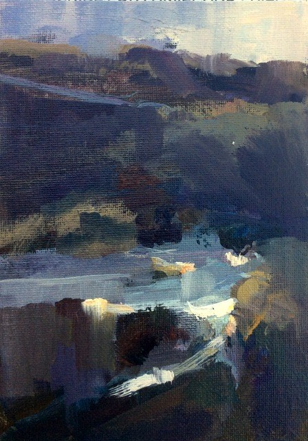 """""""Moor walking"""" original fine art by Anne Wood"""