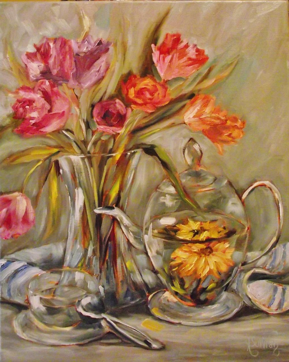 """A Flower For Mama"" original fine art by Angela Sullivan"