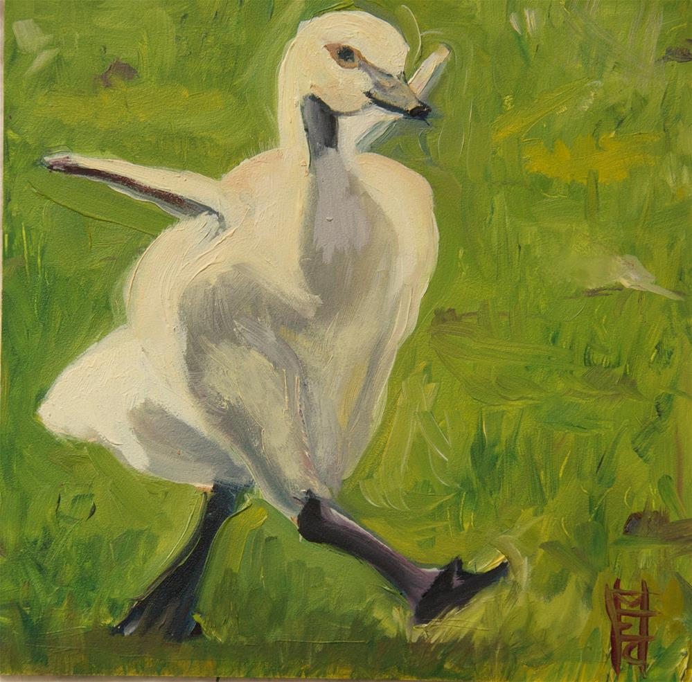 """Go Gosling"" original fine art by Margot Cole"