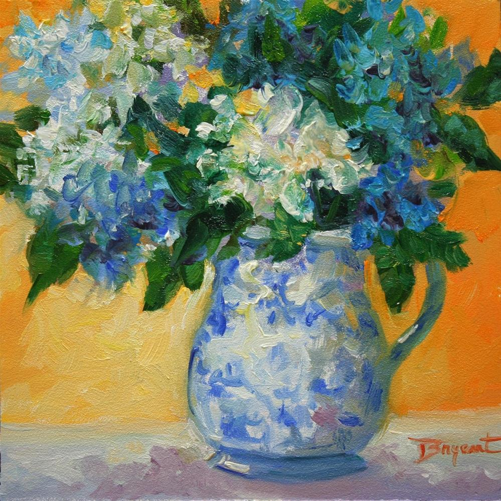 """Blue Hydrangeas"" original fine art by Debra Bryant"