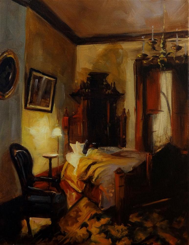 """""""Victorian Bedroom"""" original fine art by Jonelle Summerfield"""