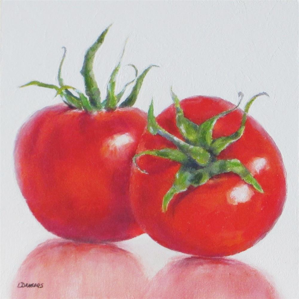 """Tomato Twins"" original fine art by Linda Demers"