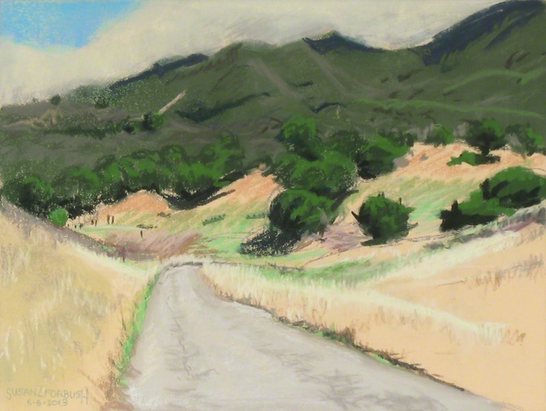"""Walker Ranch Trail"" original fine art by Susan Z. Forbush"