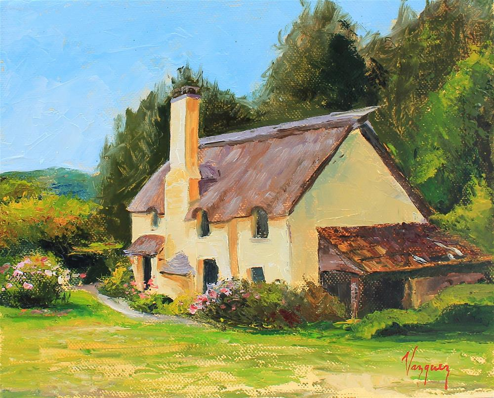 """Cottage house"" original fine art by Marco Vazquez"