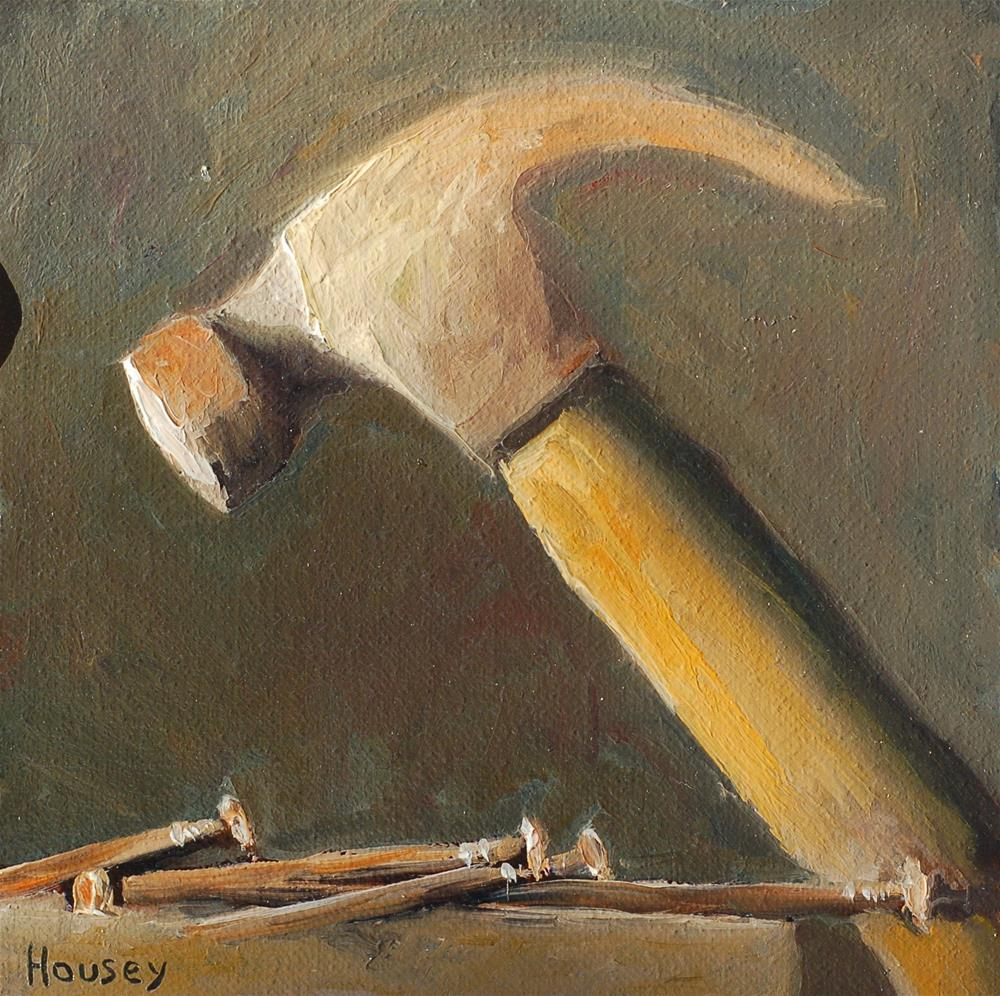 """Hammer and Nails, chiaroscuro"" original fine art by Bruce Housey"