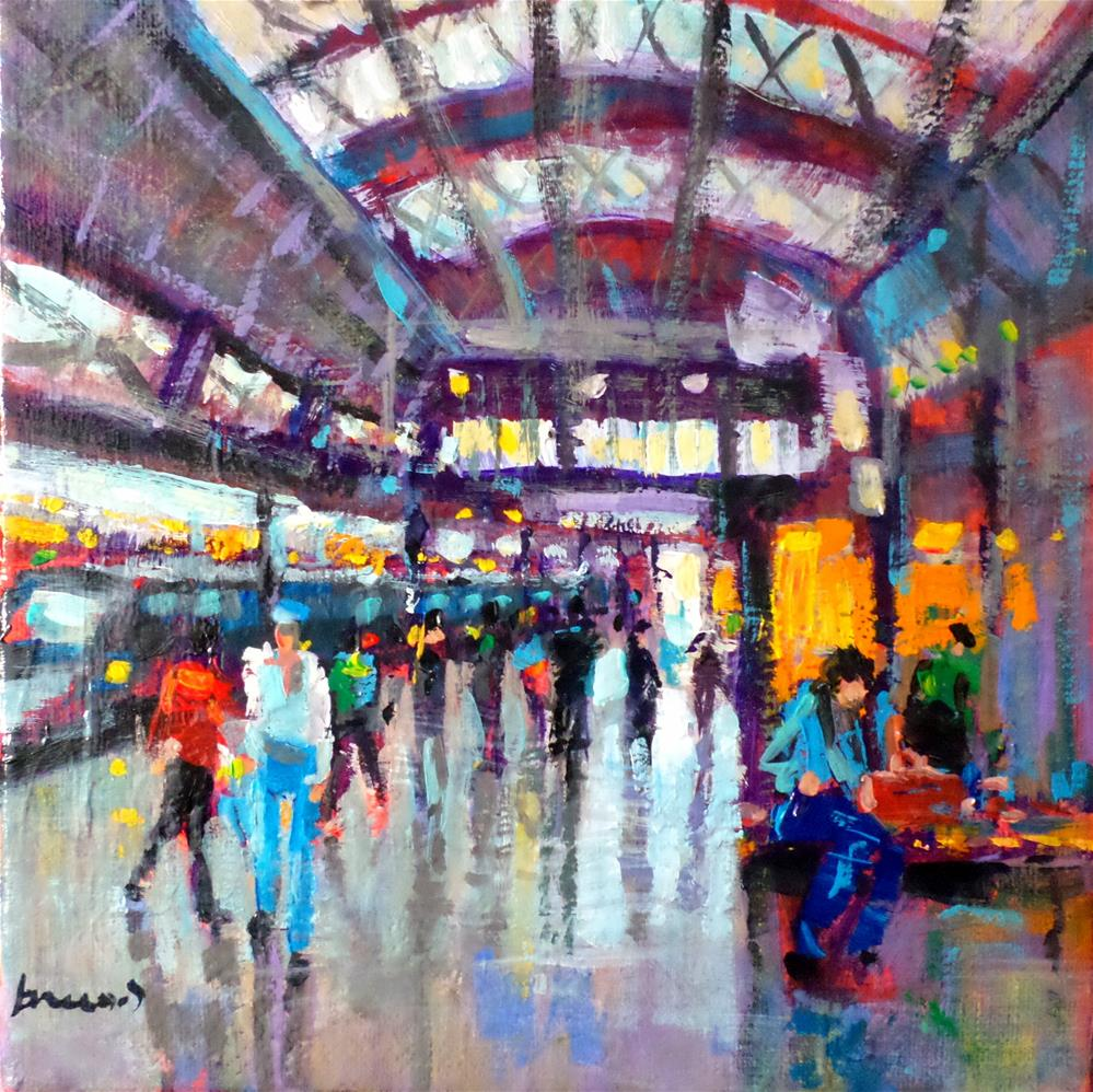 """train station"" original fine art by salvatore greco"