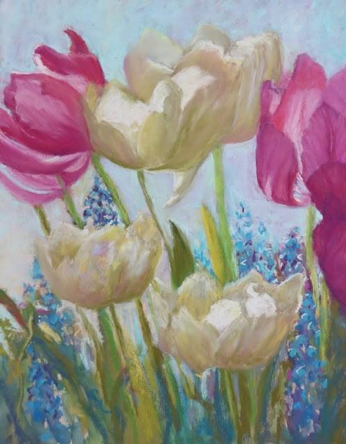 """Let's Pretend It's Spring"" original fine art by Sharon Lewis"