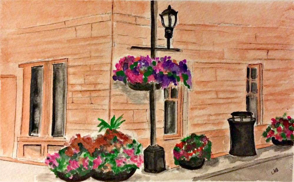 """Spring in Fort Collins 9 x 12  w/  mat only"" original fine art by Nancy Beard"