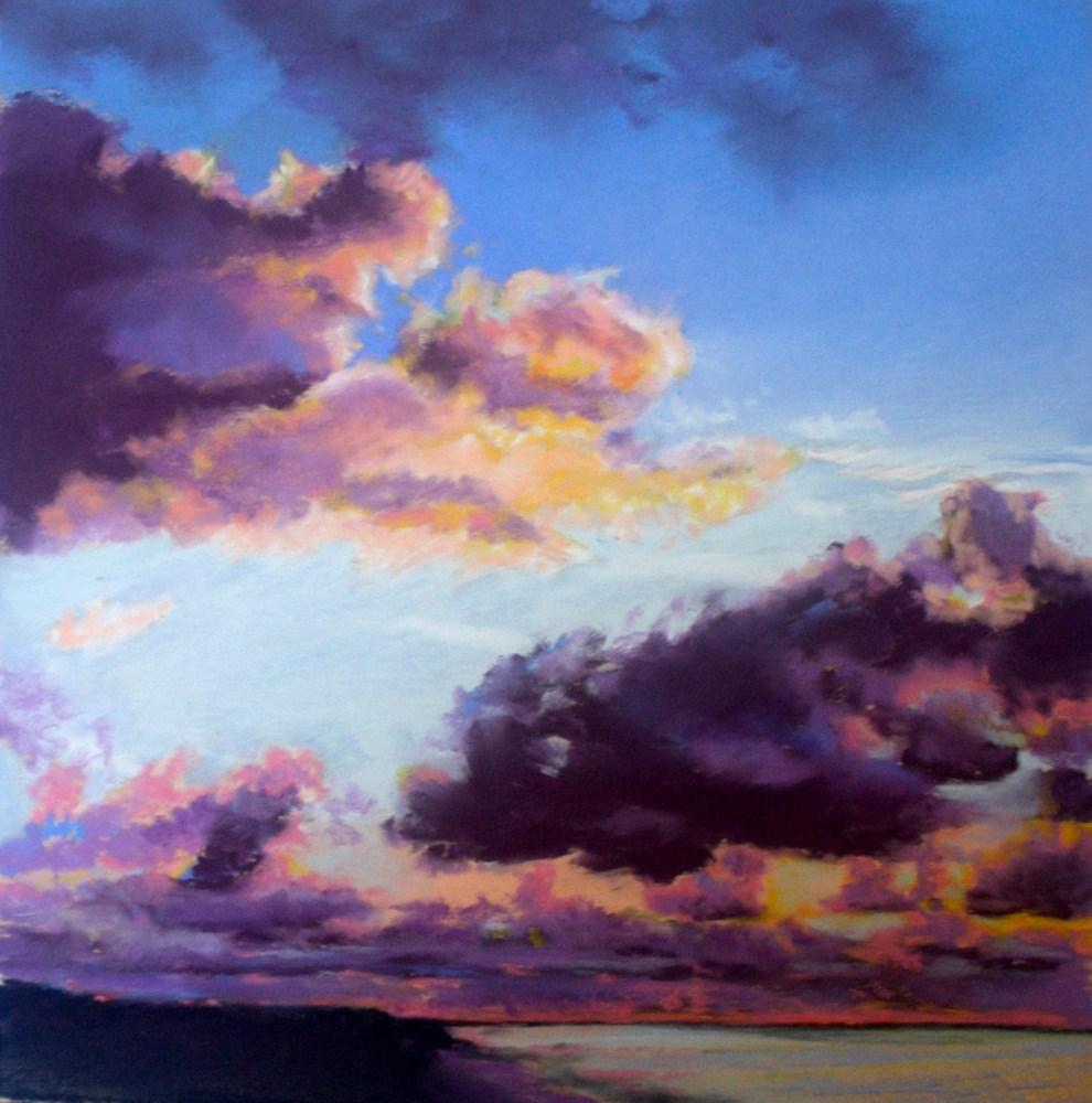 """""""Red Sky At Morning"""" original fine art by Jill Bates"""