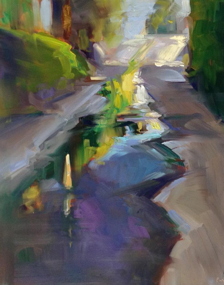 """Alleyway Reflection"" original fine art by Patti McNutt"