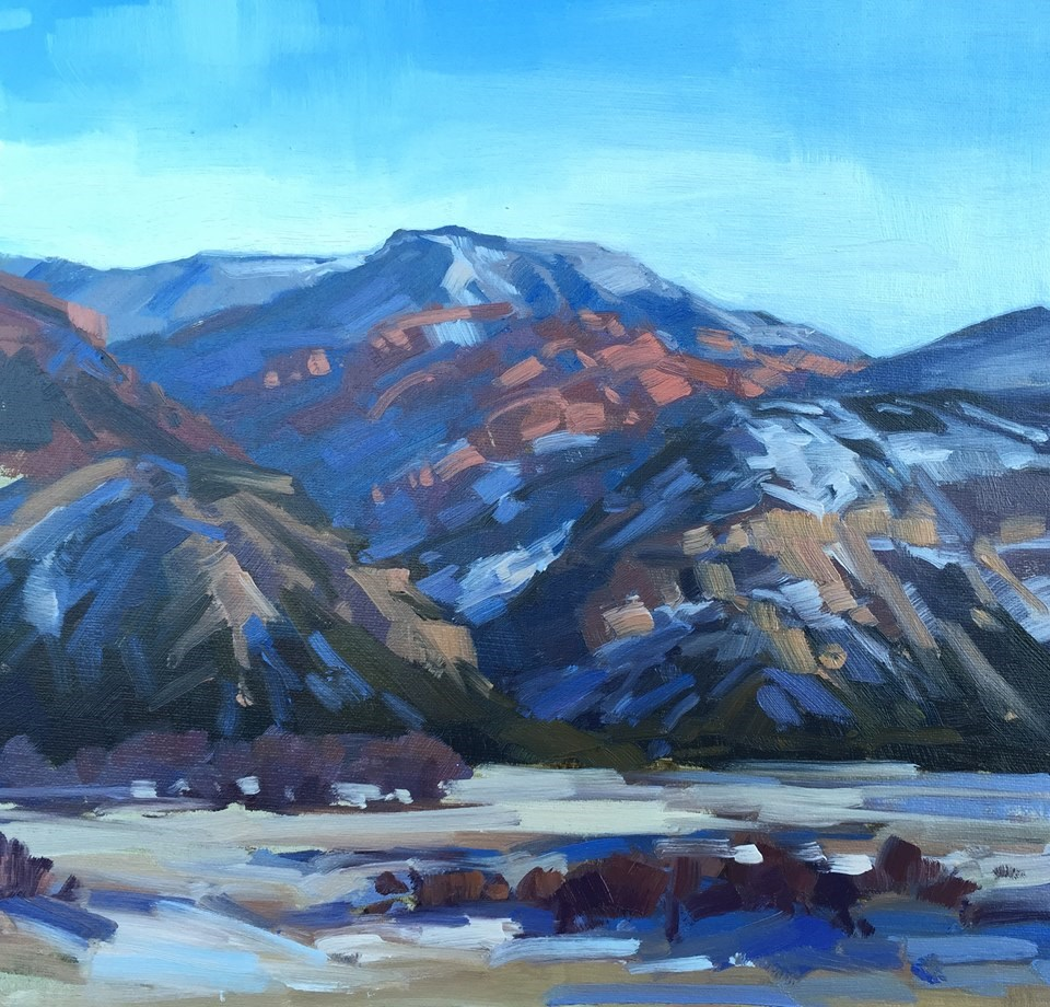 """Sunset and Red Rocks - Kannaraville Range"" original fine art by Mary Jabens"