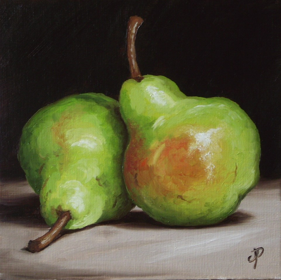 """Pair of Pears"" original fine art by Jane Palmer"