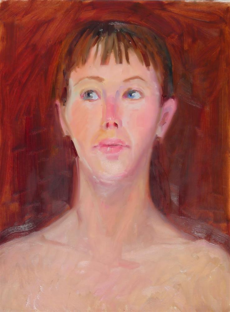 """Chelsea,portrait,oil,16x12,priceNFS"" original fine art by Joy Olney"