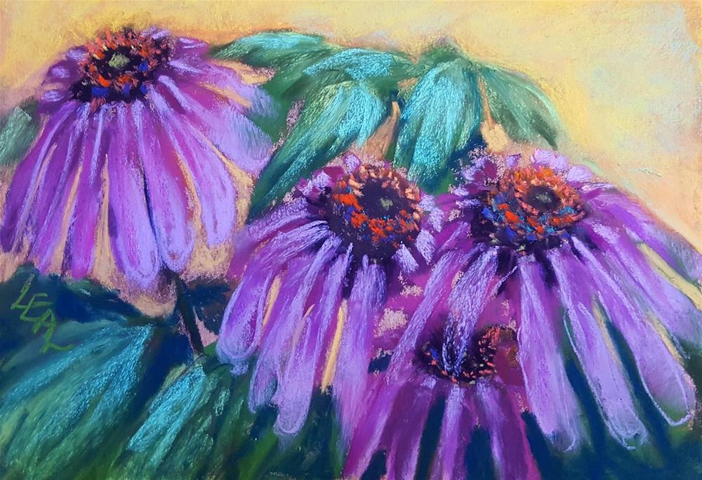 """Echinacea"" original fine art by Anna Lisa Leal"