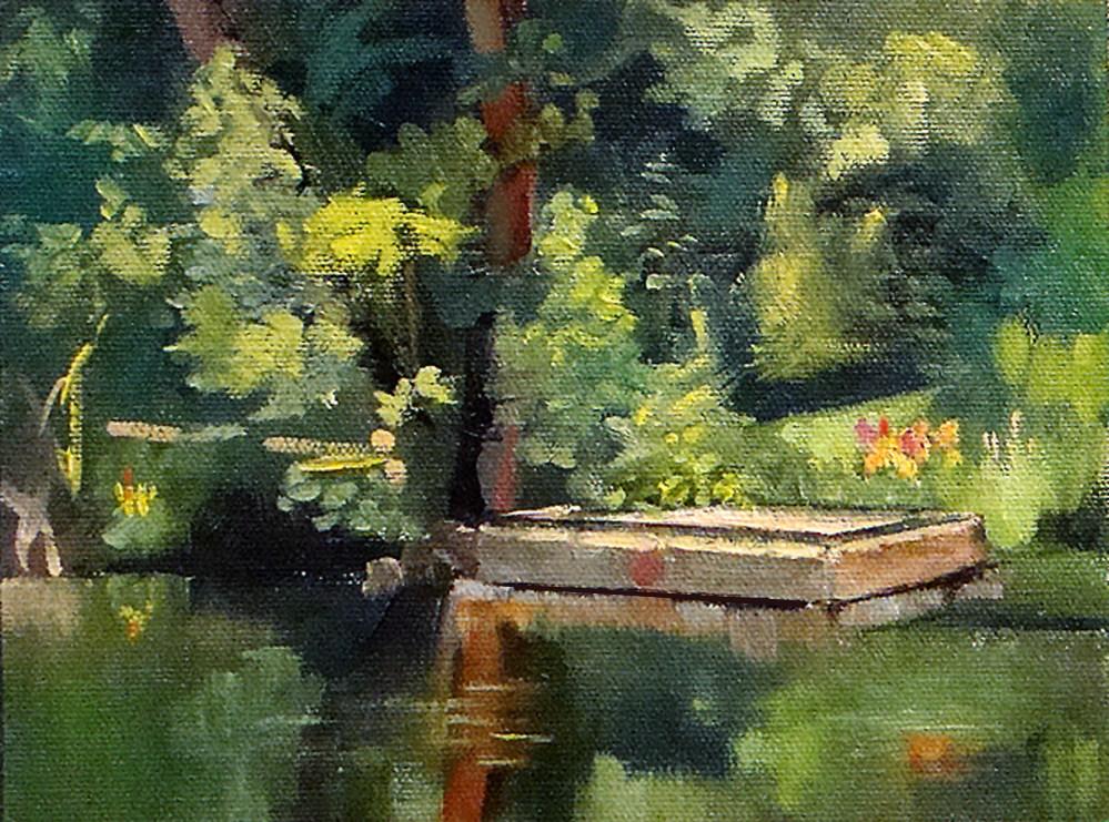 """Dock at Deep Lake"" original fine art by Roseanne Campagna"