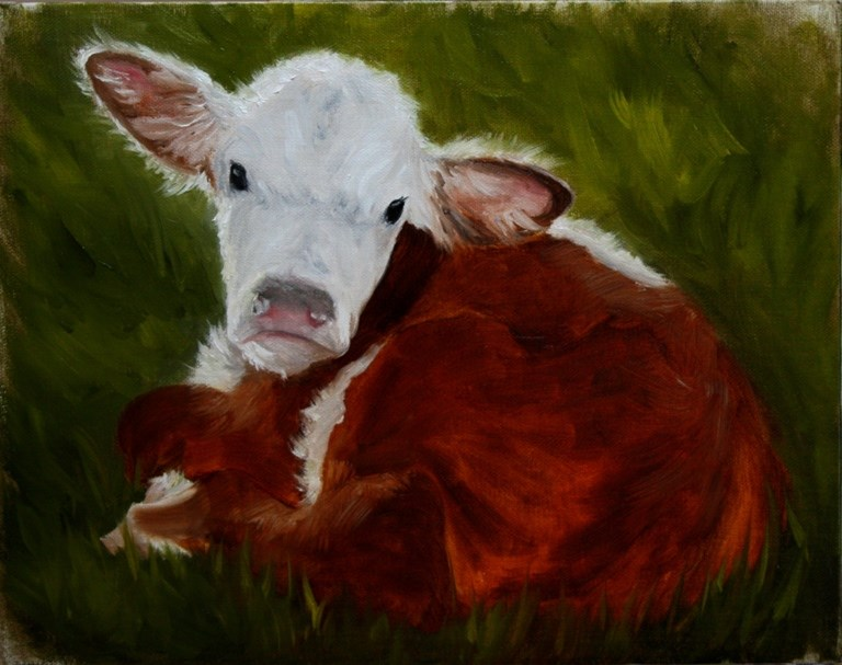 """Calf"" original fine art by Mary Datum"